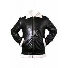 Rocky Balboa Style Bomber Leather Jacket