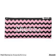 Pink Chevron Pencil Case