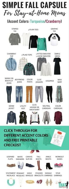 Basic Fall Capsule Wardrobe (72+ Outfits) for the Stay-at-Home Mom