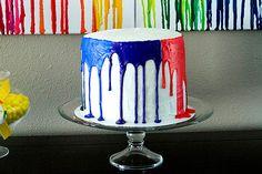 How to make Art Birthday Cake