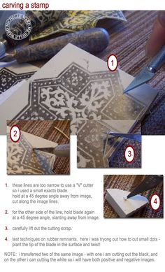 Michelle Ward's tutorial for carving a stamp