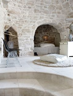 Stone trulli house in Italy. I could live here...