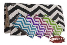 Chevron saddle pads in 6 colors from www.spoilmyhorse.com