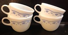 Pyrex Morning Blue Vintage Teacups, Set of 4 *** Continue with the details at the image link. Coffee Drinks, Coffee Mugs, Vintage Teacups, Pyrex, Are You Happy, Tea Cups, Make It Yourself, Tableware, Image Link