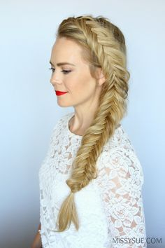 We're going back to the basics and learning the classic dutch fishtail braid. Fishtail braids can be one of the easiest braids to master but also one of the most time-consuming. This style of braid incorporates hair into both sides by crossing the sections underneath…