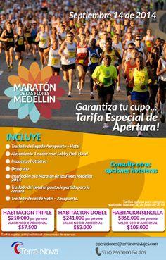 Acepta el reto.... Corre con nosotros! Maratón de las Flores 2014...