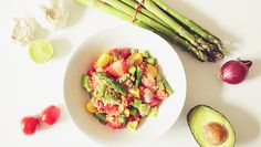 Quinoa with Asparagus, Strawberries and Lemon