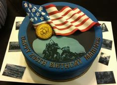 From the Halls of Montezuma, To the shores of Tripoli; We fight our country's battles In the air, on land, and sea; First to fight for right and freedom And to keep our honor clean: We are proud to claim the title Of United States Marine. Marine Corps Cake, Usmc Birthday, Happy Birthday, Call Of Duty Cakes, Military Cake, Bithday Cake, Gourmet Cakes, Cake Wrecks, Cute Cakes
