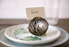 Design by Terrain: Pinecone Place Card Holders