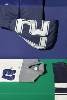 Inspired by american university sports jerseys, big graphic letters find their way on our blue, white and grey polos and sweatshirts. Lacoste Online, Golf Style, My Style, Sports Jerseys, Golf Fashion, Winter Is Coming, Mens Sweatshirts, Big Boys, Wardrobes