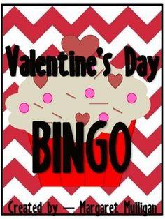 Valentine's Day Bingo - 25 different cards! Valentine Bingo, Valentines Day, Printable Labels, Printables, Bingo Cards, Classroom, Games, Valentine's Day Diy, Class Room