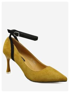 0aa934a1472 Mid Heel Pointed Toe Pumps (Ginger)
