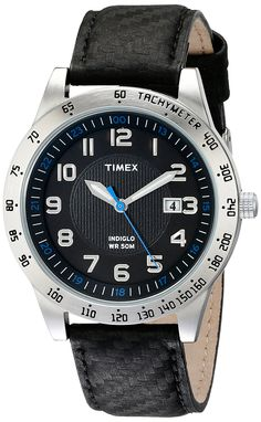 Amazon.com  Timex Men s T2N920 Elevated Classics Stainless Steel Watch with  Black Band  Timex  Watches 9bc38672ce53