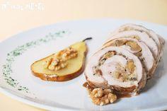 Pollo relleno con nueces y pera | L'Exquisit