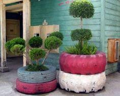 Ideas como reutilizar los neumáticos reciclados