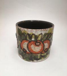 Vintage Arthur Wood Pottery Piggy Bank Money Hand Painted