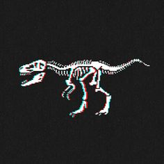 """mazeon: """"T-Rex Skeleton in Don your stereoscopic red/cyan glasses for full effect. Dinosaur Skeleton, Cute Dinosaur, Wallpaper Space, Wallpaper Iphone Cute, T Rex Tattoo, Dinosaur Background, Dinosaur Wallpaper, Dinosaur Tattoos, 8 Bits"""