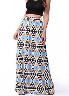 c36e815fc Womens Long Bohemian High Waisted Hippie Skirt Beach Maxi Dress -- Check  this awesome product