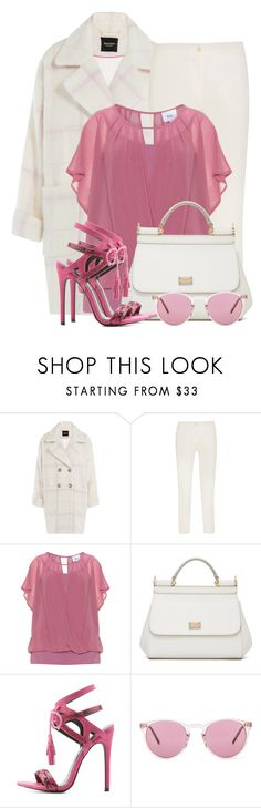 """""""Raspberries & Cream"""" by brendariley-1 ❤ liked on Polyvore featuring Juicy Couture, Etro, Zizzi, Dolce&Gabbana, Charlotte Russe and Oliver Peoples"""