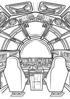 Star Wars The Force Awakens Printable Coloring Book 4 Love Coloring Pages, Online Coloring Pages, Disney Coloring Pages, Coloring Pages For Kids, Coloring Books, Weird Drawings, Star Wars Drawings, Chewbacca, Desenho Do Star Wars
