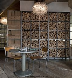 26 Impressive Wood Log Wall ideas | MagazinaOnline.
