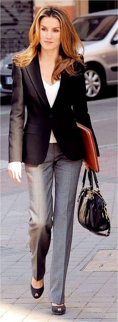 Queen Letizia Of Spain - Classic style.