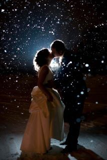Winter wedding photo! PLEASE let is snow -- just a little -- on December 14th!