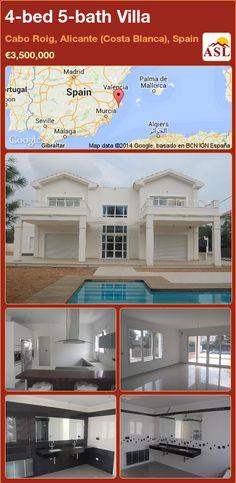 4-bed 5-bath Villa in Cabo Roig, Alicante (Costa Blanca), Spain ►€3,500,000 #PropertyForSaleInSpain