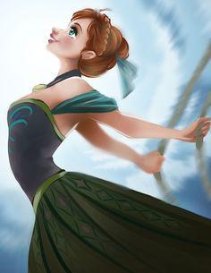 Disney Princess/Heroine - Anna by Kachumi.deviantart.com on @DeviantArt