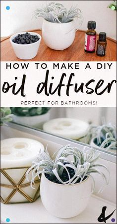How to make a DIY diffuser for essential oil. This homemade idea a great gift idea for aromatherapy lovers. The post DIY Oil Diffuser with Lava Stone and Faux Succulent appeared first on Hair Styles. Doterra, Diffuser Diy, Diffuser Blends, Homemade Diffuser, Diy Oil Diffuser Jewelry, Aromatherapy Oils, Aromatherapy Recipes, Natural Cleaning Products, Natural Products
