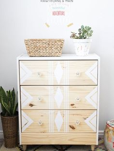 Love this RAST IKEA hack. All you need are a few supplies to make over this cheap ikea dresser into a sleek modern mid century dresser or night stand.