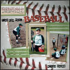 sport layouts for scrapbooking | The Holmes Crew: March 2010