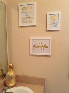 Be a pineapple...master bathroom!