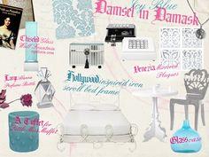 Damsel in Damask- Icy Blue  wakeupfrankie.com