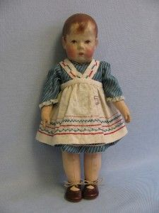 "17"" Antique KATHE KRUSE c1910 Wide-Hips DOLL I Early Model, Applied Thumbs"