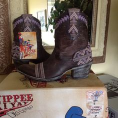 Old Gringo Boots Old Gringo Alexa Short Chocolate/purple boots.  SUPER CUTE!! Brand New w/box.  No Trades, No lowballs.  ***Reviews on this boot state they run about 1/2 size small*** Old Gringo Shoes Ankle Boots & Booties