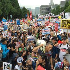 「前へ!前へ!」8月30日国会正門前 - Togetterまとめ