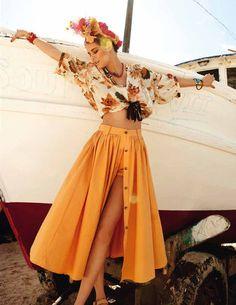 @Kianna Shann lookey! built in shorts underneath full skirt