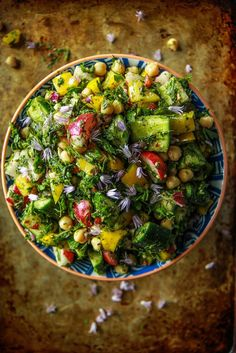 Persian Chopped Vegetable Salad from HeatherChristo.com