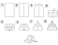 Visual paper airplane instructions