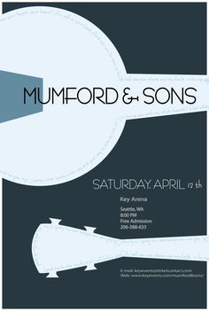 FULL VIEW PLEASE my finals project for my graphic design class! This is the colored version. Mumford and Sons Concert Poster- Colored Booklet Design Layout, Poster Design Layout, Minimalist Music, Minimalist Poster, Tour Posters, Band Posters, Event Posters, Music Education Games, Music Illustration