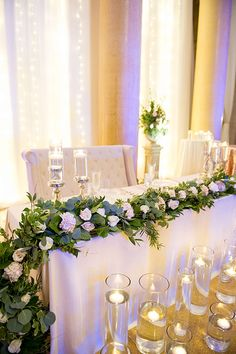 Sweetheart Table Greenery | Brides.com