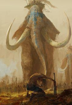Extinct Animals, Prehistoric Animals, War Elephant, Star Wars Vehicles, Creature Concept, Fantasy Inspiration, Dark Ages, Medieval Fantasy, Fantasy Creatures