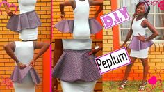Detachable.removable peplum belt (african print) DIY sewing tutorial