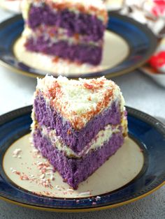This ube cake with white chocolate coconut cream is so divine. It is a delicious ube-coconut treat!