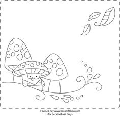 grandfather mushroom by merwing✿little dear, via Flickr ~  FREE embroidery pattern ~ info here ~ http://littledeartracks.blogspot.co.uk/2010/06/grandfather-mushroom.html