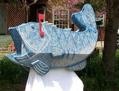 Pine Hill Woodcrafts Bass Fish Mailbox – Mailbox Big Box $299 Free Shipping