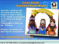 Curso Virtual Guirnalda Reyes Magos Precio US$9.99 (impuestos incluidos).