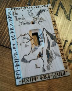 Lord of the Rings Home Decor - Lonely Mountain Wall Plate  https://www.etsy.com/listing/228072406/woodburned-the-lonely-mountain-single