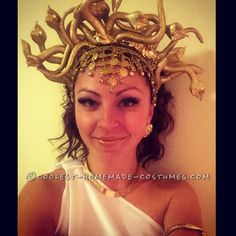 DIY Cheap Halloween Costume Medusa under $10 | Pinterest | Cheap halloween Medusa and Halloween costumes  sc 1 st  Pinterest & DIY Cheap Halloween Costume: Medusa under $10 | Pinterest | Cheap ...